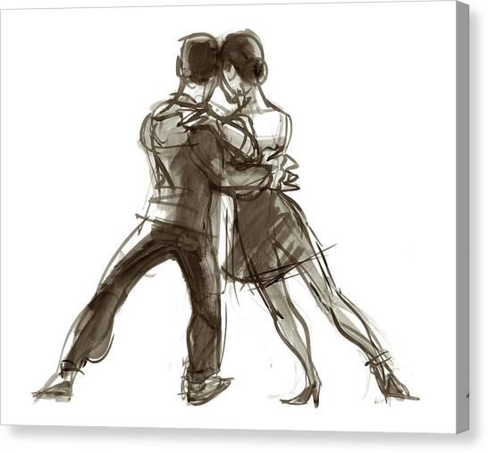 Tango Triangle Canvas Print