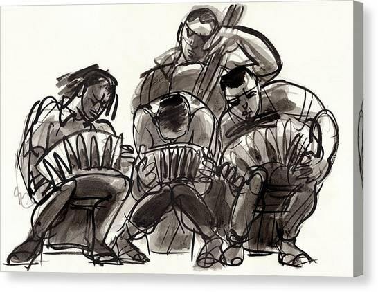 Tango Musicians Canvas Print