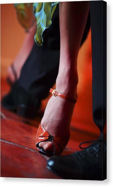Tango Toes Canvas Print