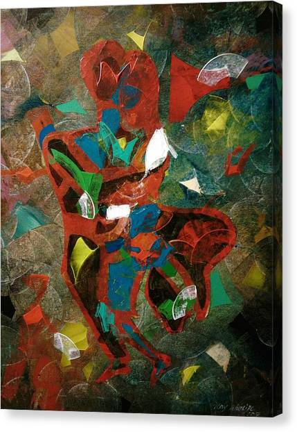 Canvas Print featuring the painting Tango With A Twist by Ray Khalife