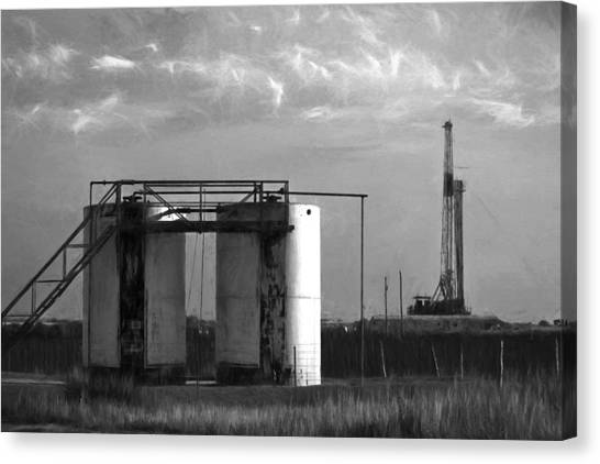 Tank Battery Canvas Print