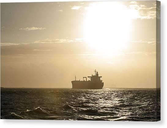 Tanker In Sun Canvas Print