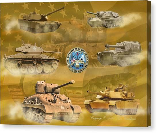 Tanks Four Canvas Print