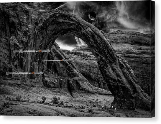 Bladerunner Canvas Print - Tannauser Gate by Jack Chamberlin