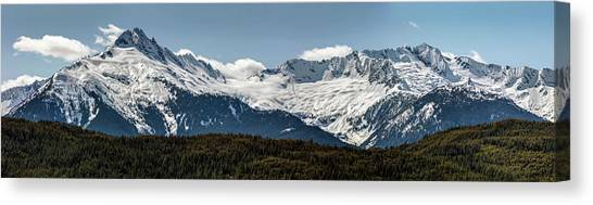 Canvas Print featuring the photograph Tantalus Mountain Range On The Sea To Sky by Pierre Leclerc Photography