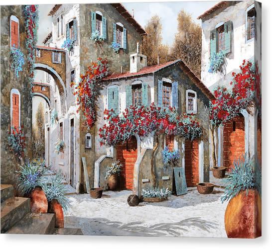 Street Scenes Canvas Print - Tanti Tanti Fiori by Guido Borelli
