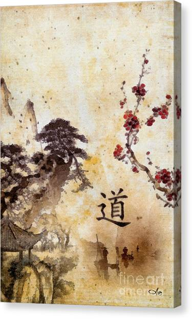Mo Canvas Print - Tao Te Ching by Mo T