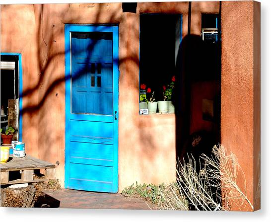 Taos Blue Door Canvas Print