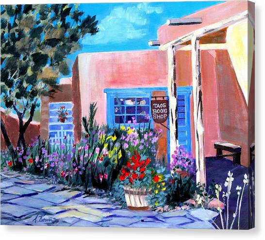 Taos Book Shop Canvas Print
