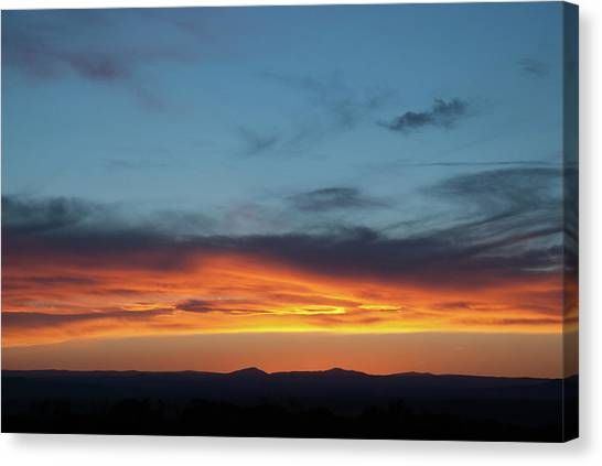 Canvas Print featuring the photograph Taos Mesa Sunset by Jason Coward