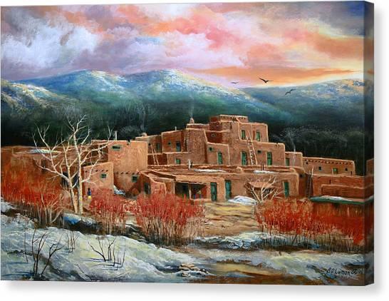 Taos Pueblo Canvas Print by Brooke lyman