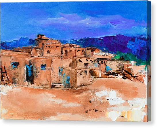 Taos Pueblo Village Canvas Print
