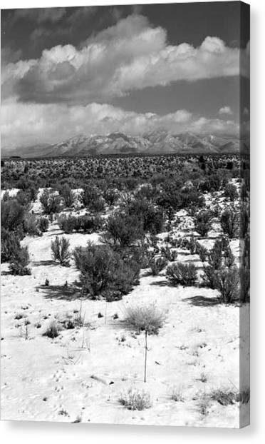 Taos Snowfall Canvas Print by Susan Chandler