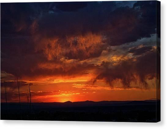 Taos Virga Sunset Canvas Print