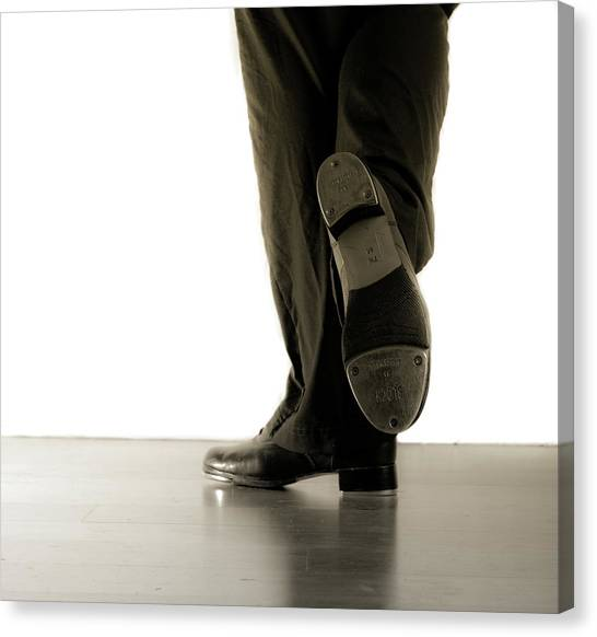 Tap Dance Canvas Print - Tap Foot by Scott Sawyer