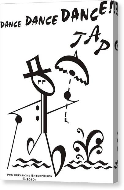 Tap Dance Canvas Print - Tap by Maria Watt