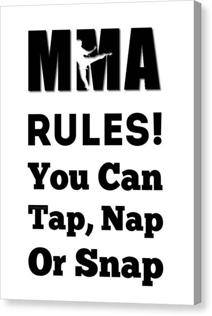 Taekwondo Canvas Print - Tap Nap Or Snap by FirstTees Motivational Artwork