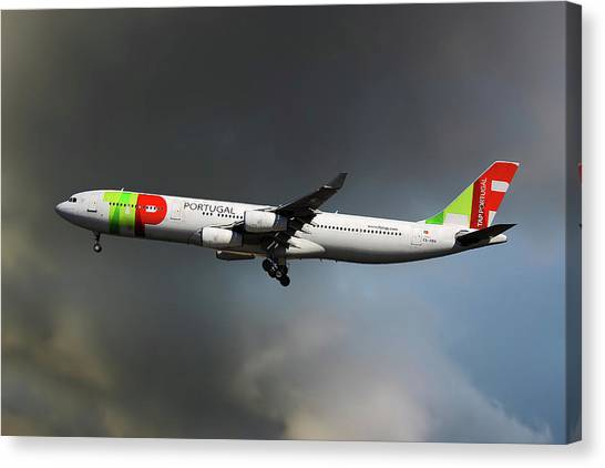 Airlines Canvas Print - Tap Portugal by Smart Aviation