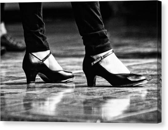 Tap Dance Canvas Print - Tap Shoes by Lauri Novak