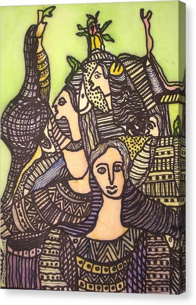 Tapestry Of Life Canvas Print by Nabakishore Chanda
