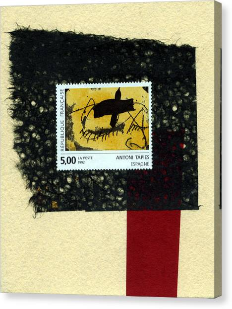 Tapies Stamp Collage Canvas Print