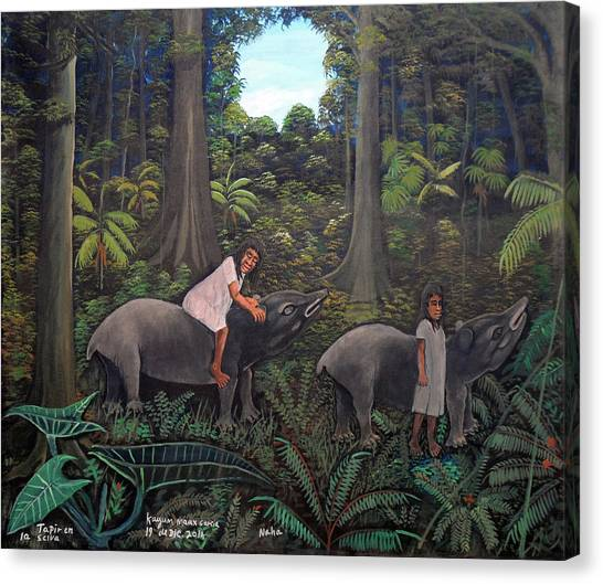 Tapir In The Jungle Canvas Print