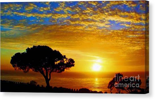 Fort Rosecrans National Cemetery Canvas Print - Taps Time Rip by Marta Robin Gaughen