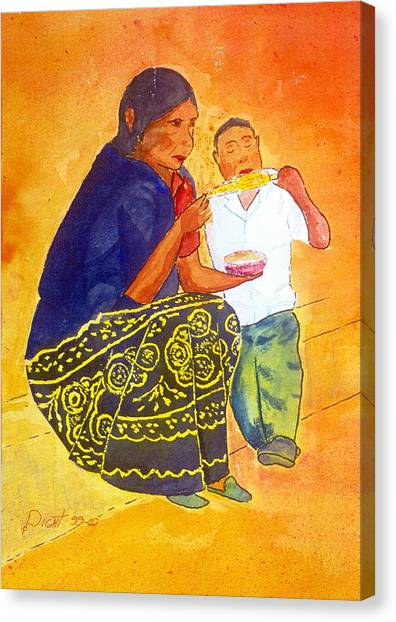 Tarascan Senora  And Nino Canvas Print by Buster Dight