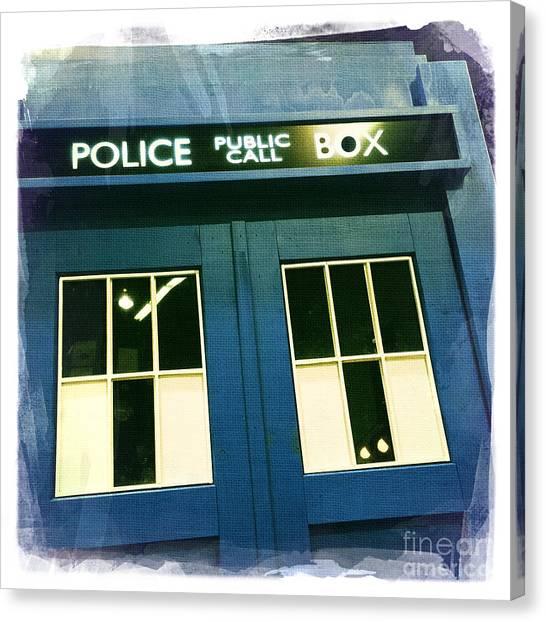 Tardis Dr Who Canvas Print