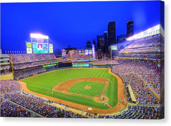 Minnesota Twins Canvas Print - Target Field At Night by Shawn Everhart