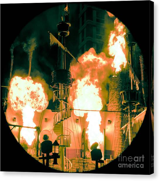 Pirates Canvas Print - Target In Flames by Andy Smy