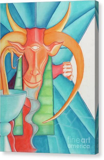 Tarot Devil Canvas Print