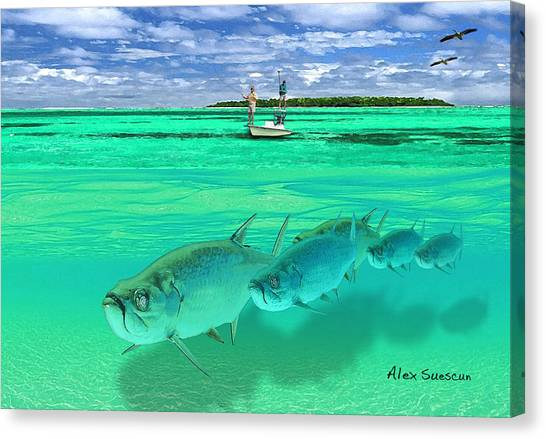 Tarpon Shot Canvas Print