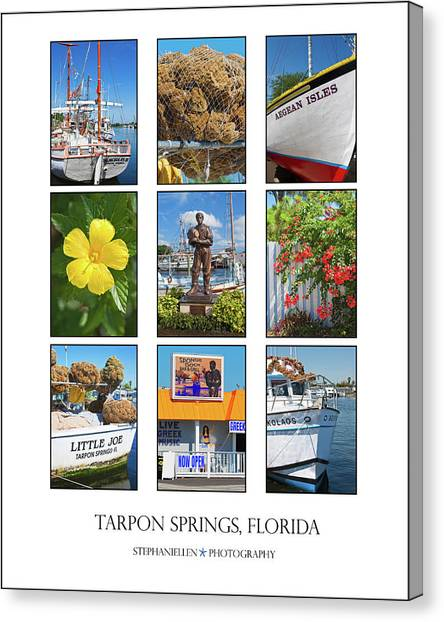 Tarpon Springs Poster Canvas Print