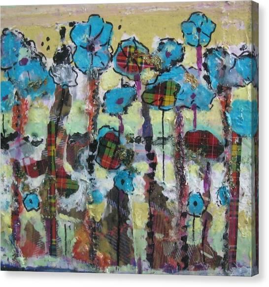 Tartan Garden Canvas Print