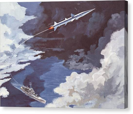 Warheads Canvas Print - Tartar Surface To Air Missile by American School