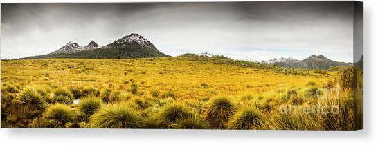 Country Scene Canvas Print - Tasmania Mountains Of The East-west Great Divide  by Jorgo Photography - Wall Art Gallery