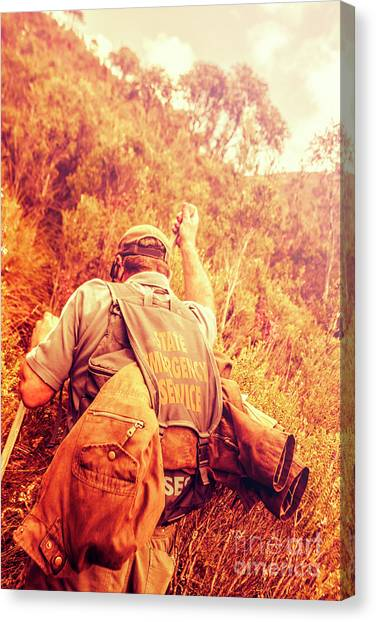 Earthquake Canvas Print - Tasmania Search And Rescue Ses Volunteer  by Jorgo Photography - Wall Art Gallery