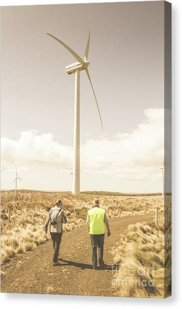 Wind Farms Canvas Print - Tasmania Turbine Tours by Jorgo Photography - Wall Art Gallery