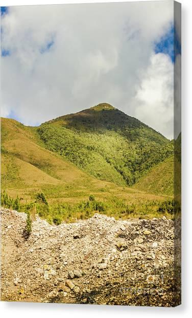 Geology Canvas Print - Tasmanian Mountains by Jorgo Photography - Wall Art Gallery