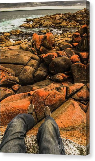 Legs Canvas Print - Tasmanian Tourist Kicking Back  by Jorgo Photography - Wall Art Gallery