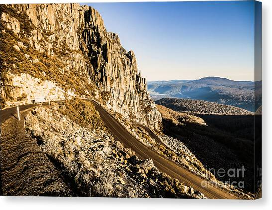 Mountain Ranges Canvas Print - Tasmanian Turns by Jorgo Photography - Wall Art Gallery