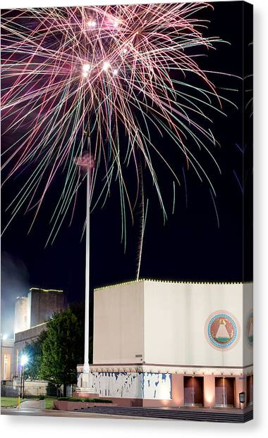Taste Of Dallas 2015 Fireworks Canvas Print