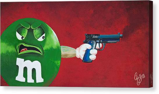 Taste The Rainbow Of Bullets Bitch Part 1 Canvas Print by Chris  Fifty-one