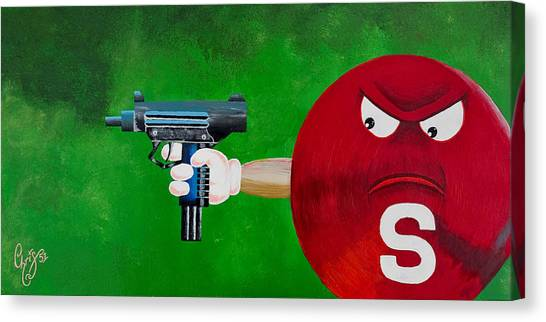 Taste The Rainbow Of Bullets Bitch Part 2 Canvas Print by Chris  Fifty-one