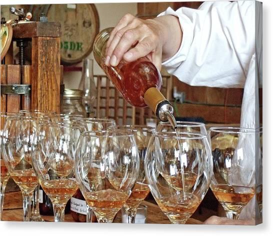 Wine Barrels Canvas Print - Tasting Jewels by Jeremy Tamsen