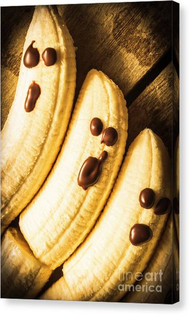 Bananas Canvas Print - Tasty Healthy Halloween Treats For Kids by Jorgo Photography - Wall Art Gallery