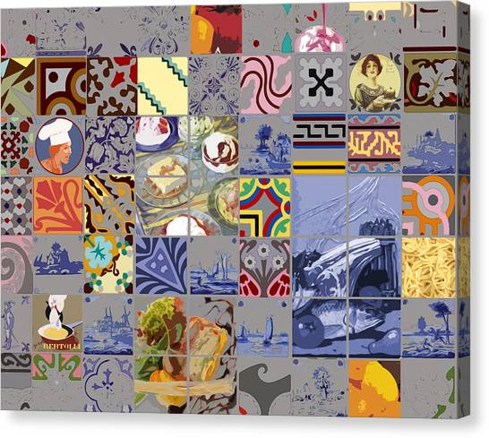 Tasty Tiles Canvas Print