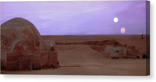 Jedi Canvas Print - Tatooine Sunset by Mitch Boyce