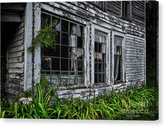 Tattered Color Signed Canvas Print